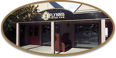 Shot of the outside of O'Flynns Irish Pub
